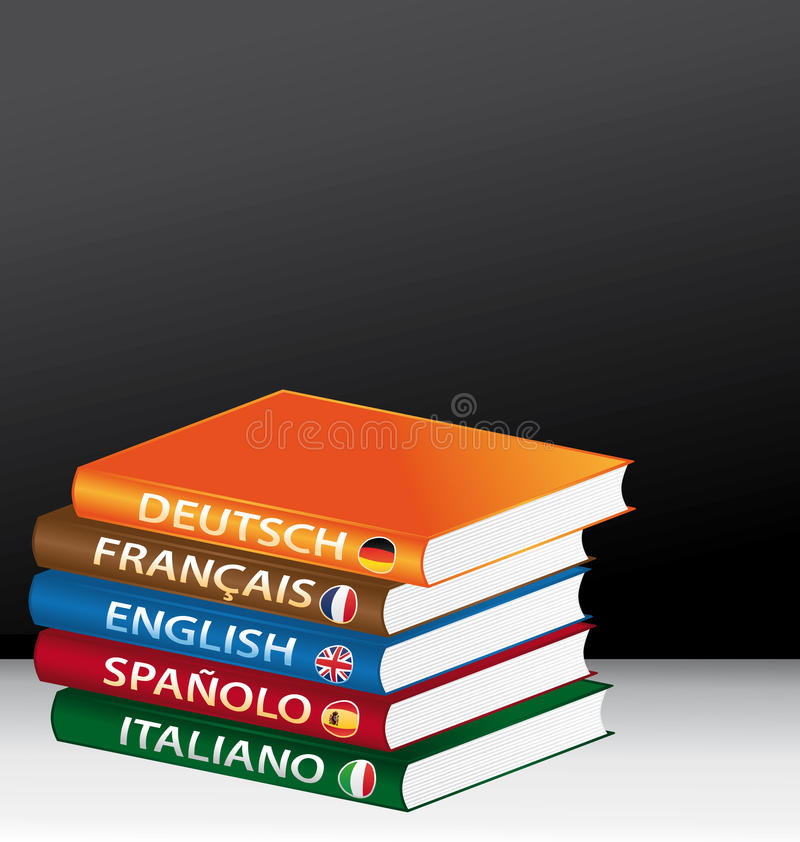 Vreemde talen stock illustratie