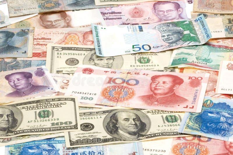 Vreemde valuta's stock afbeeldingen