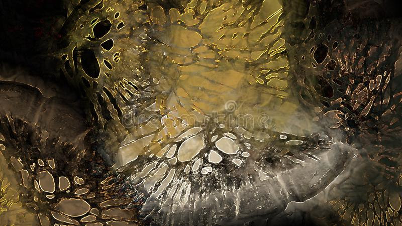 Vreemde van de het conceptenkunst van de wereld vreemde planeet van de grunge geheimzinnige nevelige textuur angstaanjagende atmo royalty-vrije illustratie