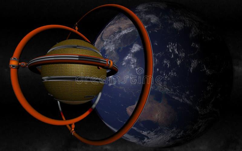 Vreemdeling Gevonden Aarde stock illustratie