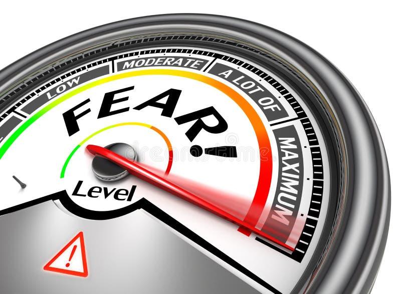 Vrees conceptuele meter royalty-vrije illustratie