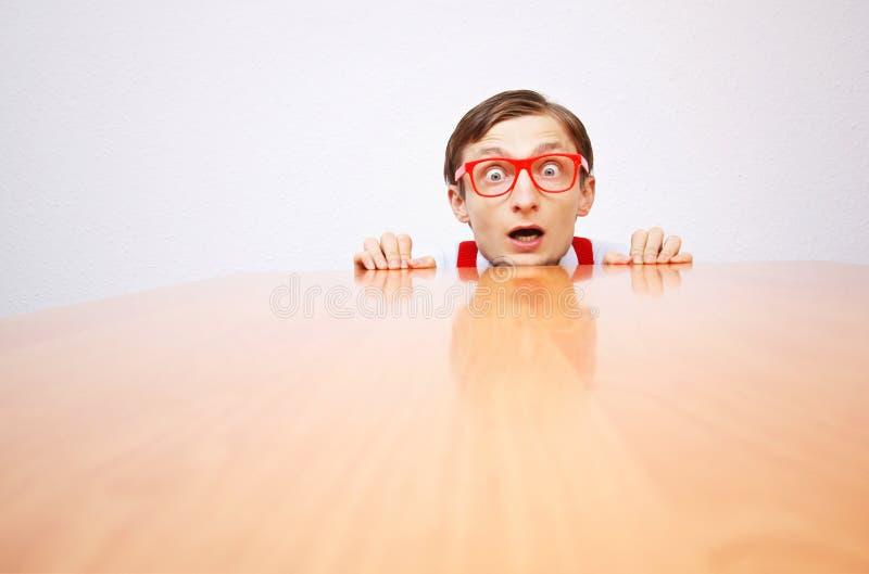 Vrees in het bureau stock foto's