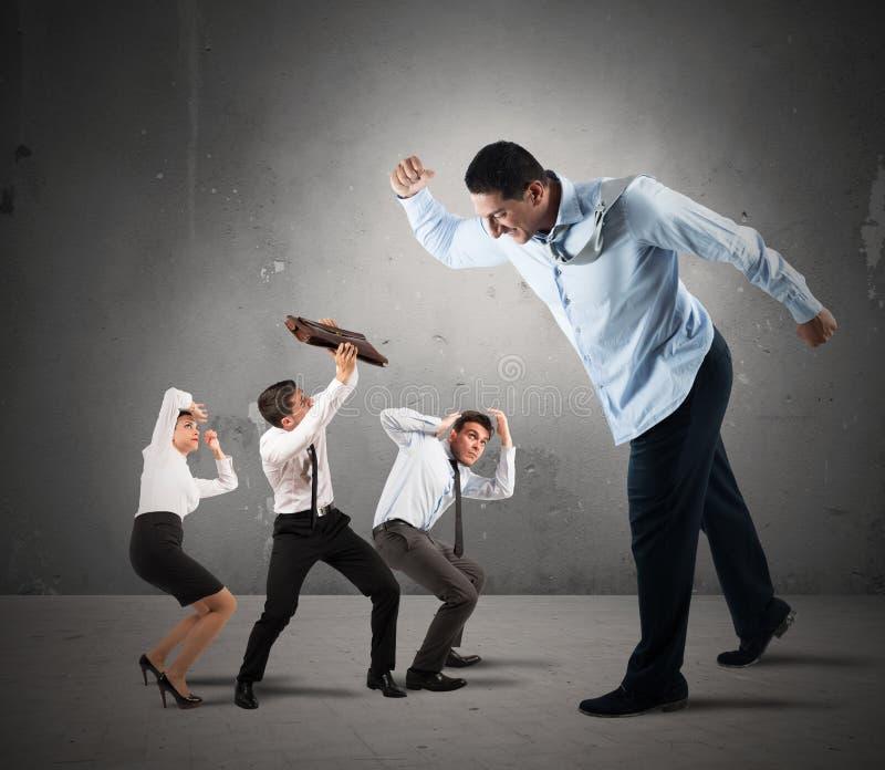 Vrees voor de werkgever royalty-vrije stock afbeelding