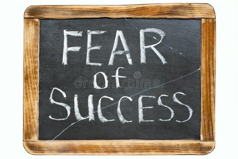 Vrees voor succes Fr royalty-vrije stock afbeelding