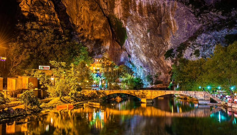 Vrelo Bune, source of the Buna river, in Blagaj royalty free stock images