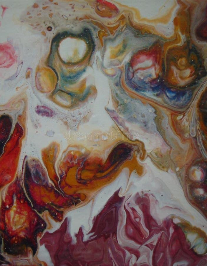 Vreugde het abstracte schilderen, ilustration stock foto