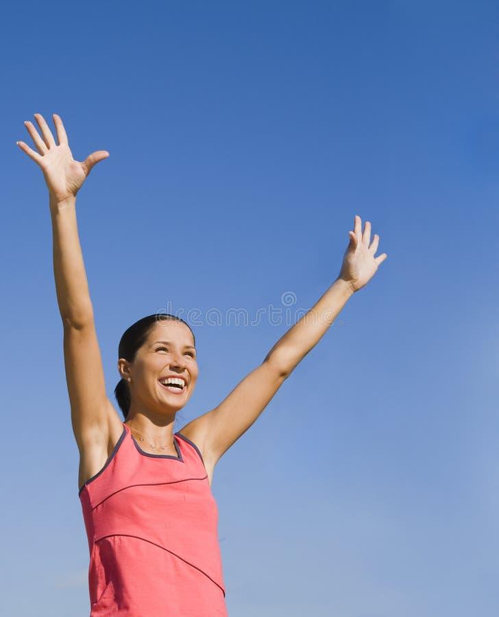 Vreugde Van Overwinning Stock Foto