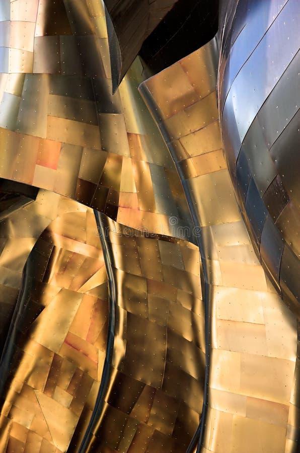 vriden abstrakt metall arkivfoto