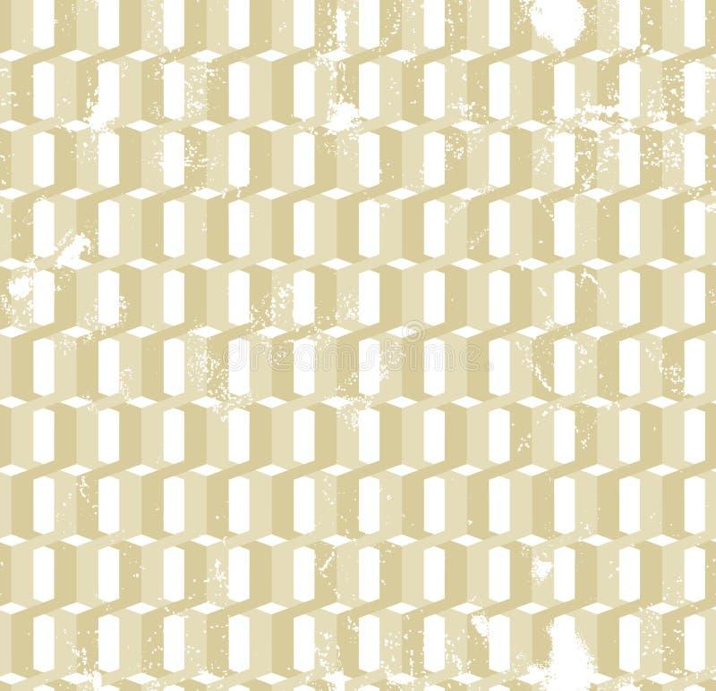 Vriden modell för grunge för guld- cirklar sömlös stock illustrationer