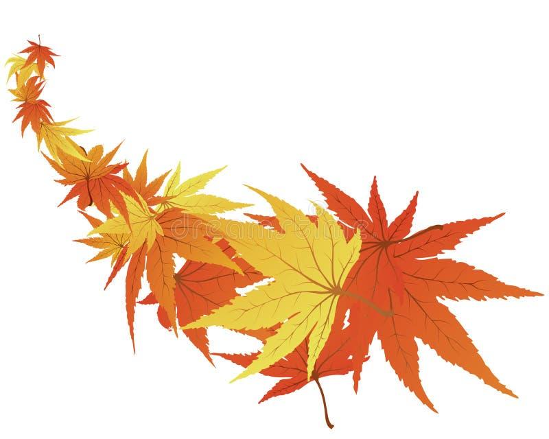vridna leaves royaltyfri illustrationer