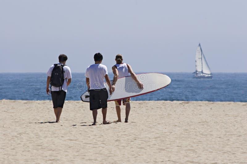 Download Vrienden bij het strand stock afbeelding. Afbeelding bestaande uit kustlijn - 285749