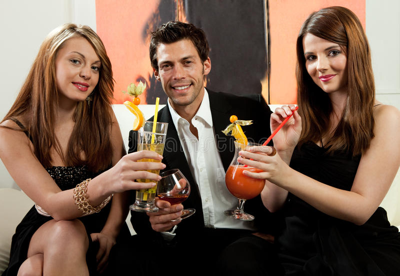 Vrienden die goede tijd hebben royalty-vrije stock foto