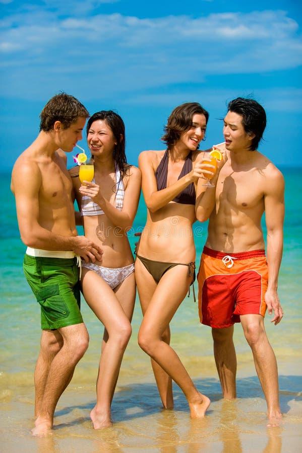 Vrienden op Vakantie royalty-vrije stock afbeeldingen
