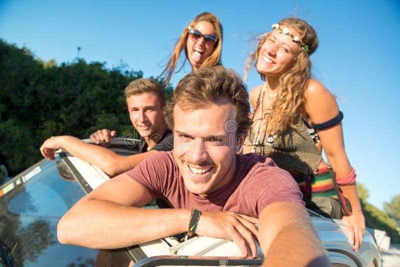 Vrienden op Vakanties royalty-vrije stock afbeelding