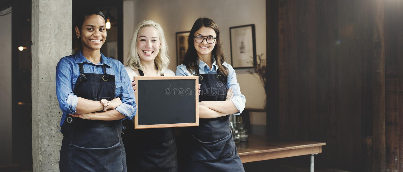 Vriendenvennootschap Barista Coffee Shop Concept stock foto