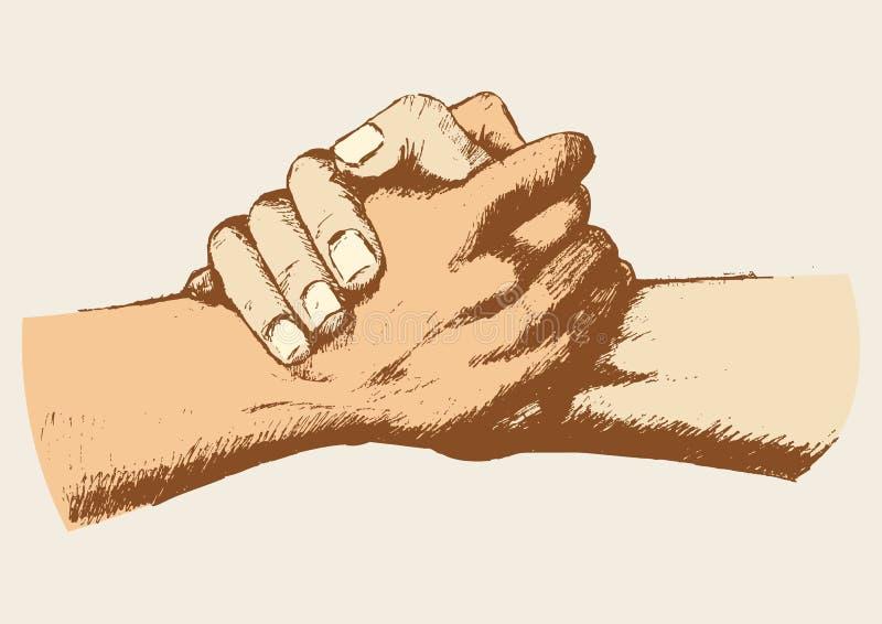 Vriendschap vector illustratie
