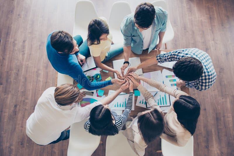 Vriendschap, eenheid, samenwerking, samenwerking, multinationale onderneming, et stock afbeeldingen
