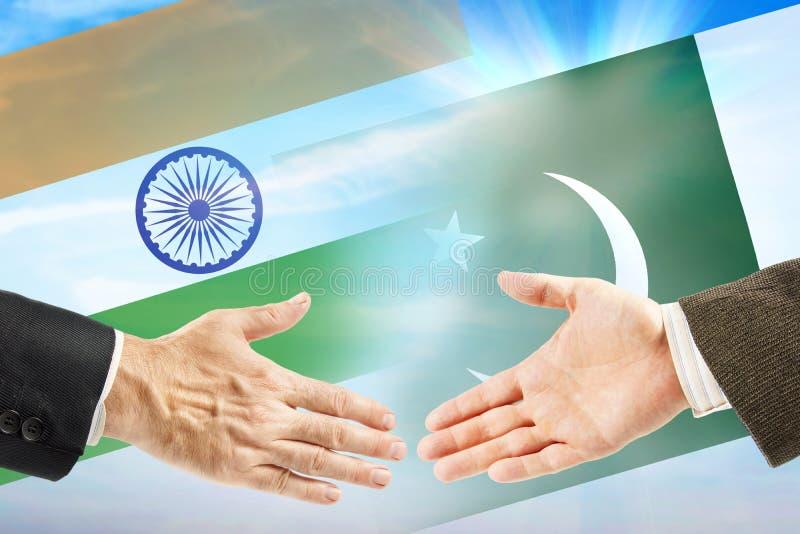 Vriendschap en samenwerking tussen India en Pakistan royalty-vrije stock afbeelding