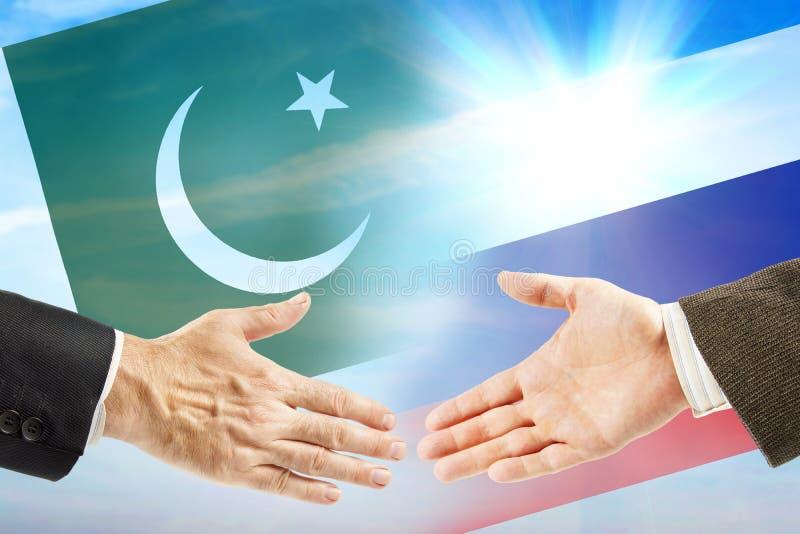 Vriendschap en samenwerking tussen Rusland en Pakistan royalty-vrije stock foto's