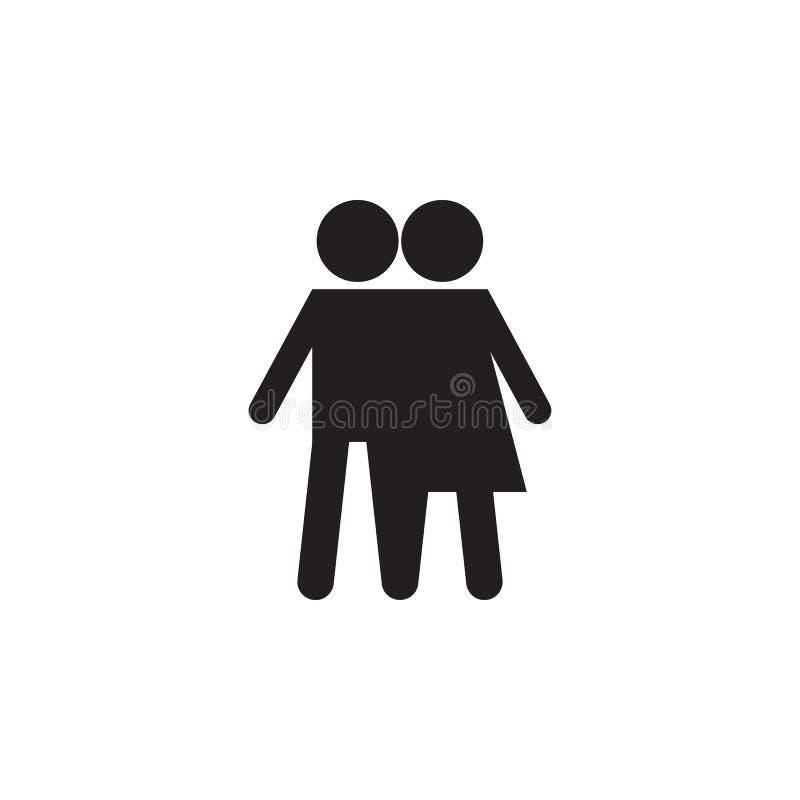 vriendschap tussen jongen en meisjespictogram Gedetailleerd pictogram van vriendschap en verhoudingenpictogram Het grafische ontw royalty-vrije illustratie