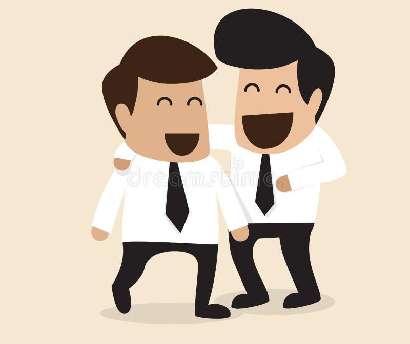 Vriendschap tussen Zakenman twee vector illustratie