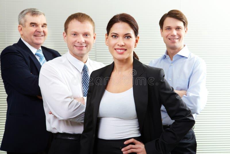 Vriendschappelijk commercieel team stock foto
