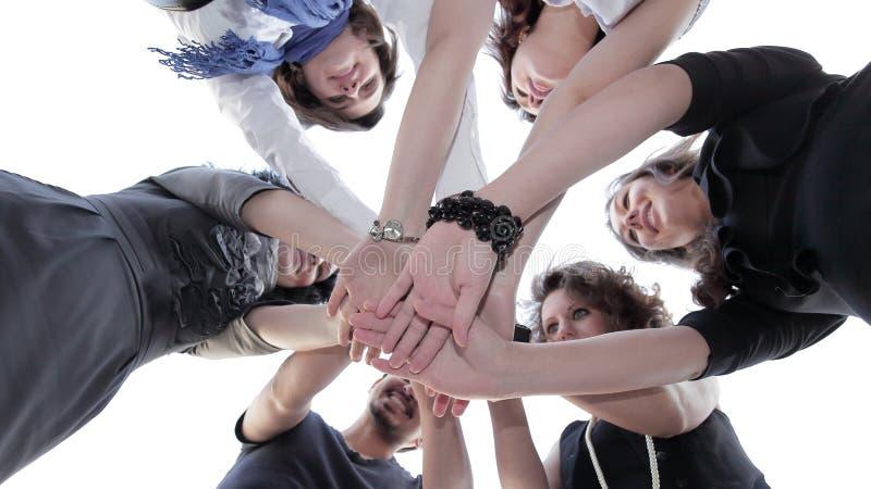 Vriendschappelijk commercieel team Het concept groepswerk royalty-vrije stock afbeelding