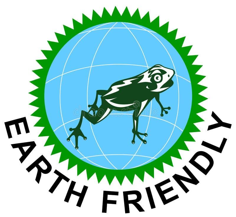 Vriendschappelijk het symboolpictogram van de aarde royalty-vrije illustratie