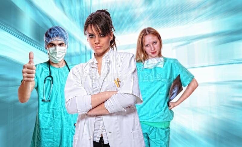 Vriendschappelijk medisch team royalty-vrije stock foto's
