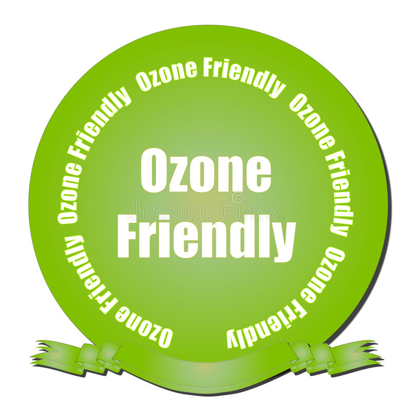Vriendschappelijk ozon vector illustratie