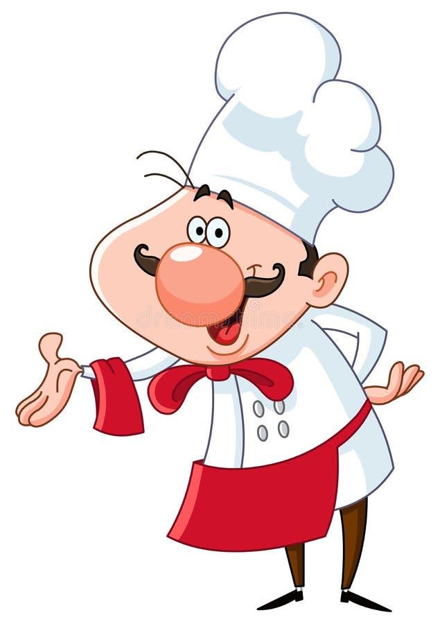 Vriendschappelijke chef-kok vector illustratie