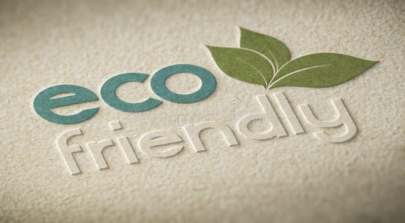 Vriendschappelijke Eco stock illustratie