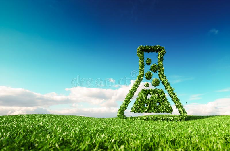 Vriendschappelijke Eco, bio, geen afval, nul verontreiniging, pesticide vrije agri royalty-vrije illustratie