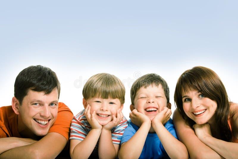 Vriendschappelijke familie stock foto's