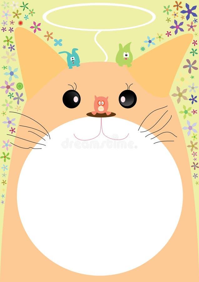 Vriendschappelijke kat vector illustratie