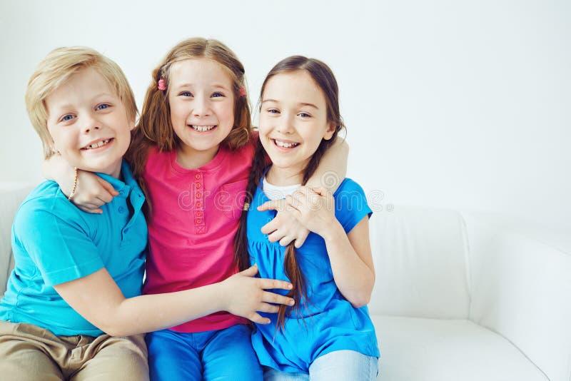 Vriendschappelijke kinderen royalty-vrije stock foto's