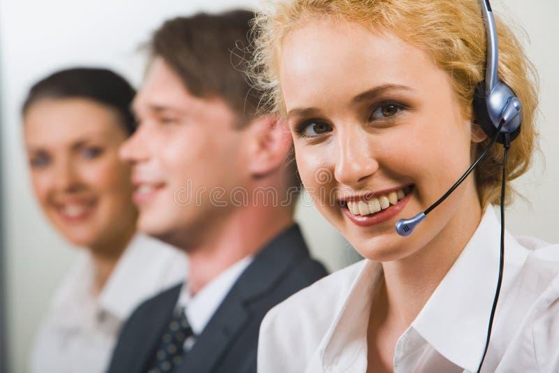 Vriendschappelijke klantenondersteuning stock afbeelding