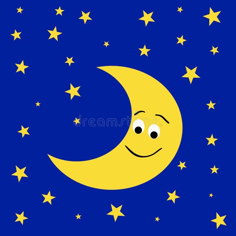 Vriendschappelijke M. moon royalty-vrije illustratie