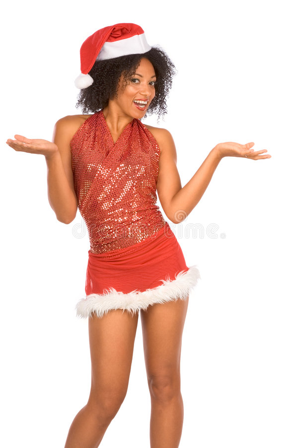 Vriendschappelijke Mevr. Santa stock fotografie