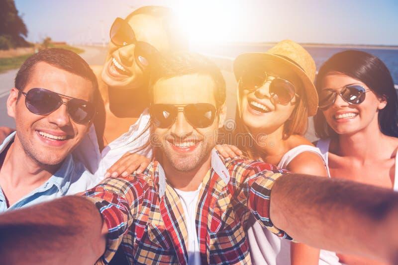 Vriendschappelijke selfie stock fotografie