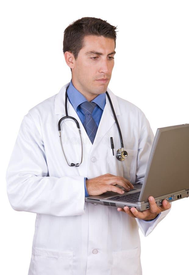 Vriendschappelijke succesvolle arts - de arbeiders van de Gezondheidszorg stock foto's