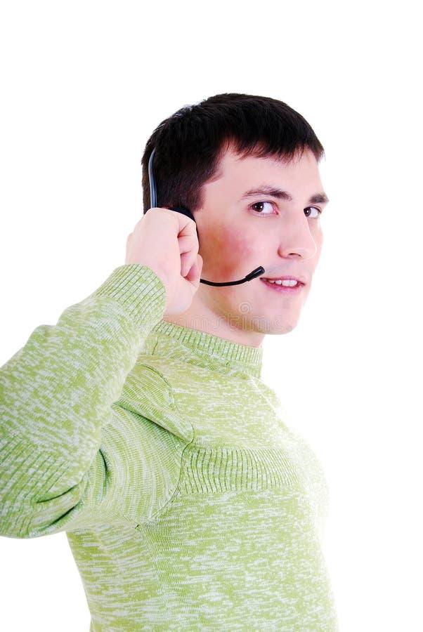 Vriendschappelijke telefoonexploitant. stock afbeeldingen