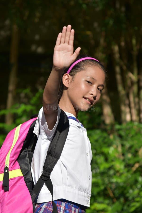 Vriendschappelijke vrij Aziatische Vrouwelijke Student Wearing Uniform stock foto's