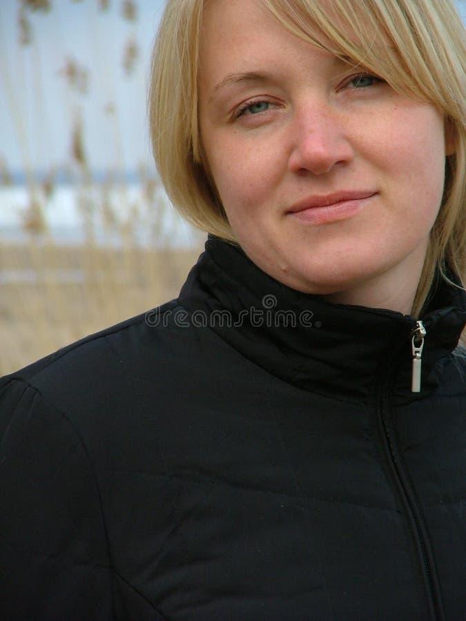 Vriendschappelijke vrouw stock foto