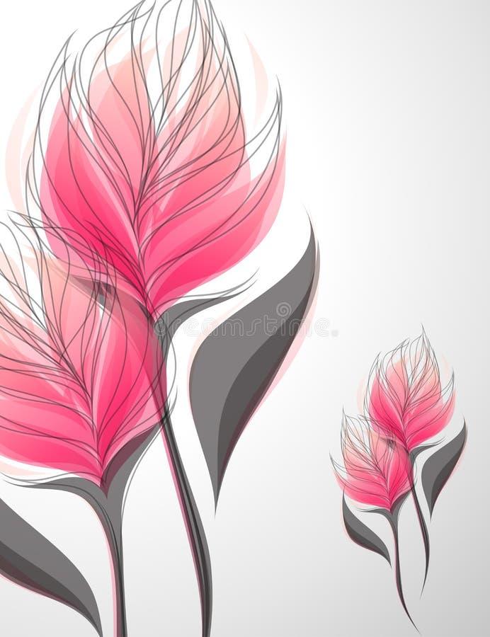 Vriesea. Ilustração do vetor. ilustração stock