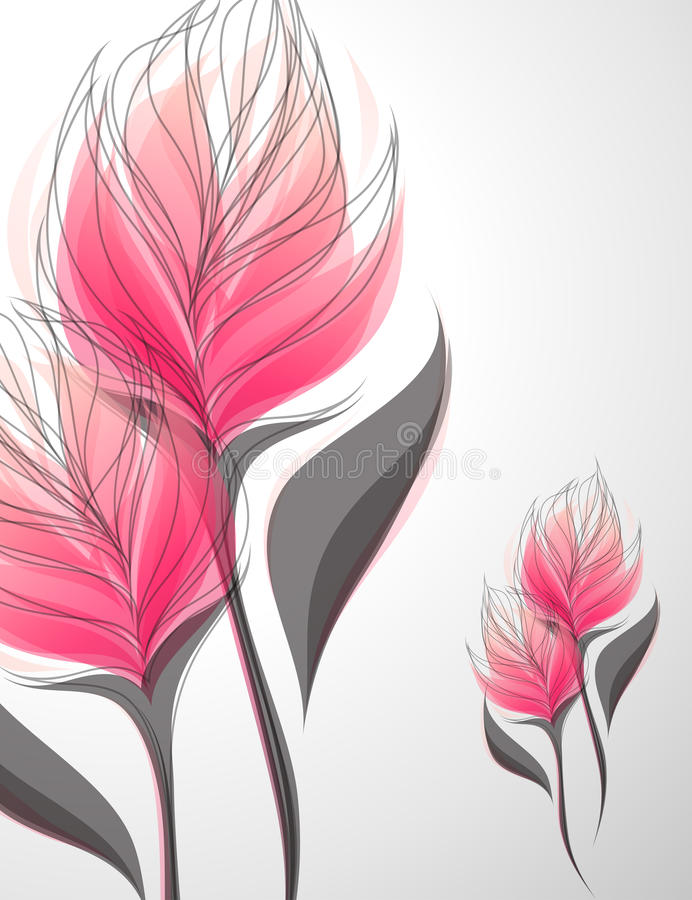 Vriesea. Vector illustratie. stock illustratie