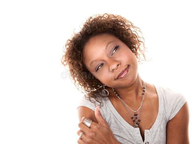 Vrij Afrikaanse Amerikaanse Vrouw royalty-vrije stock afbeelding