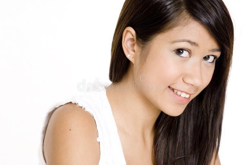Vrij Aziatisch Meisje royalty-vrije stock afbeelding