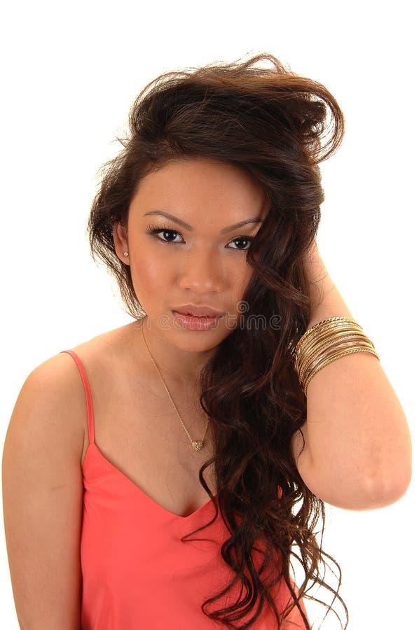 Vrij Aziatisch meisje. stock foto