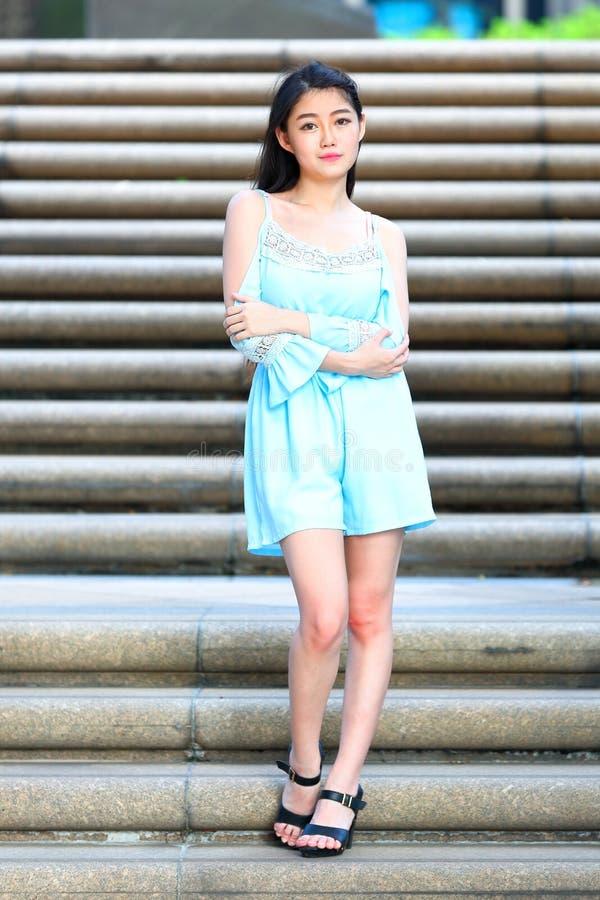Vrij Aziatisch Meisje stock foto